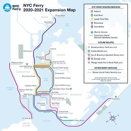 NYC Ferry Expansion Map