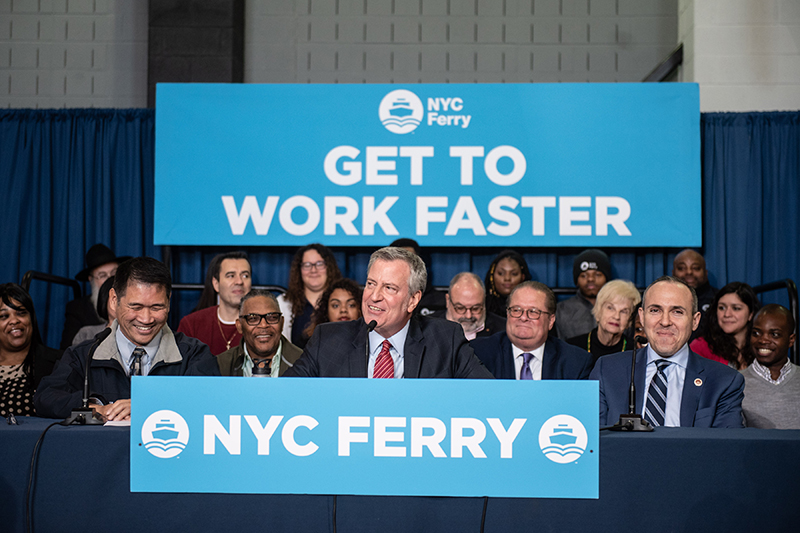 Mayor de Blasio Expands NYC Ferry System, Connecting All Five Boroughs