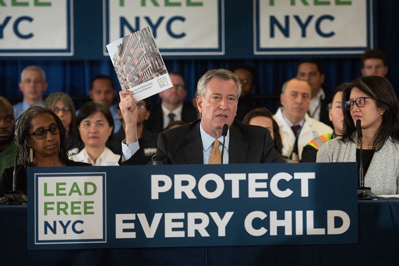 Mayor de Blasio Announces LeadFreeNYC, a Comprehensive Plan to End Childhood Lead Exposure
