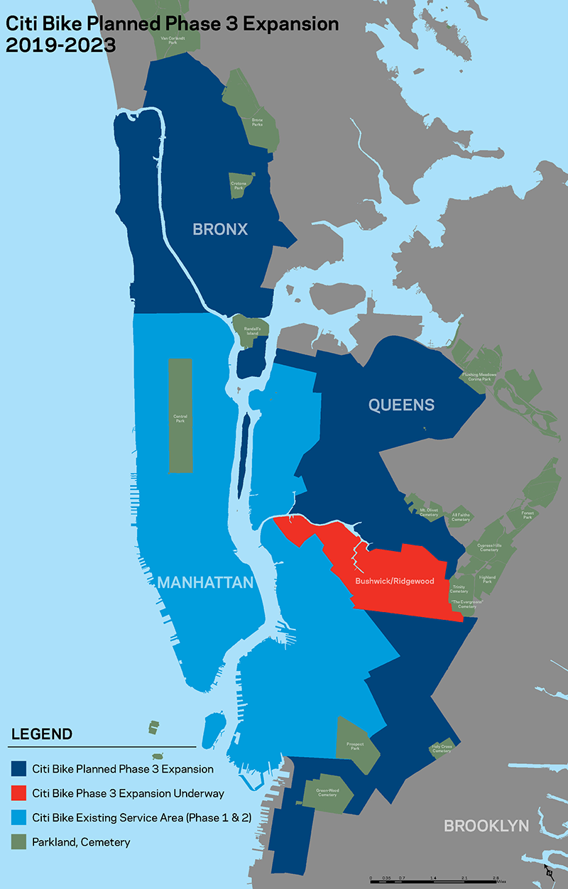Map of the CitiBike Expansion