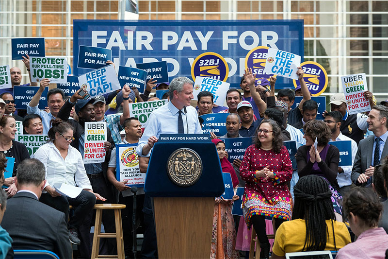 Mayor de Blasio Announces Extending FHV Caps to Protect Hardworking Drivers