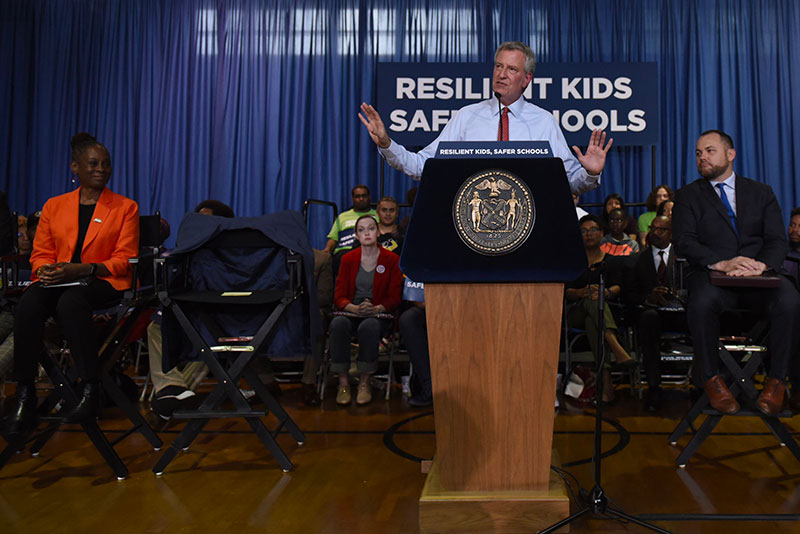 Mayor de Blasio Announces Major Expansion of Social-Emotional Learning and Restorative Justice
