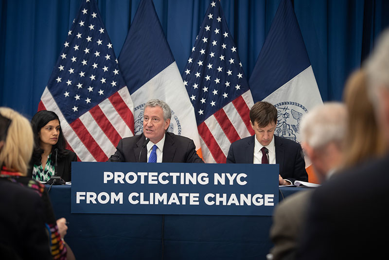 Mayor de Blasio Announces Resiliency Plan to Protect Lower Manhattan From Climate Change