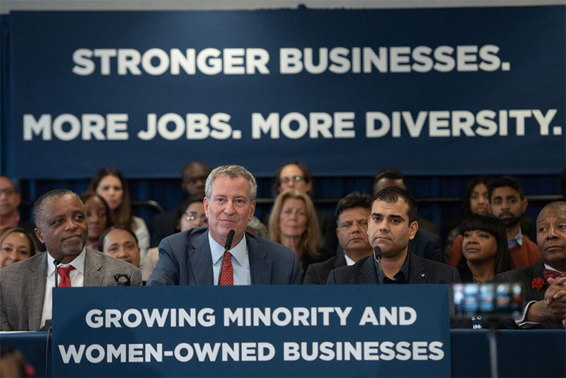 Mayor de Blasio Announces State Proposal to Level the Playing Field for M/WBEs
