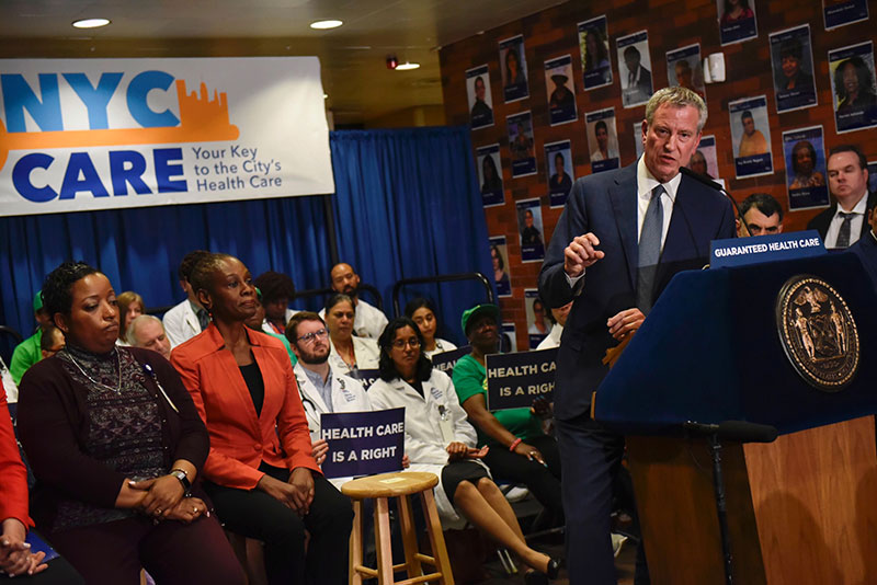 Mayor de Blasio Unveils NYC Care Card, Details Progress Toward Launch of Guaranteed Health Care