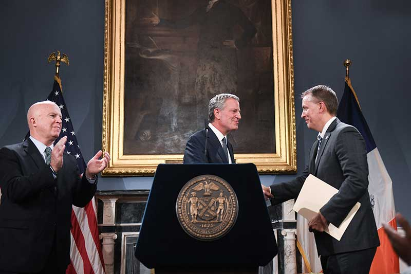 Mayor de Blasio Appoints Dermot Shea New York City Police Commissioner