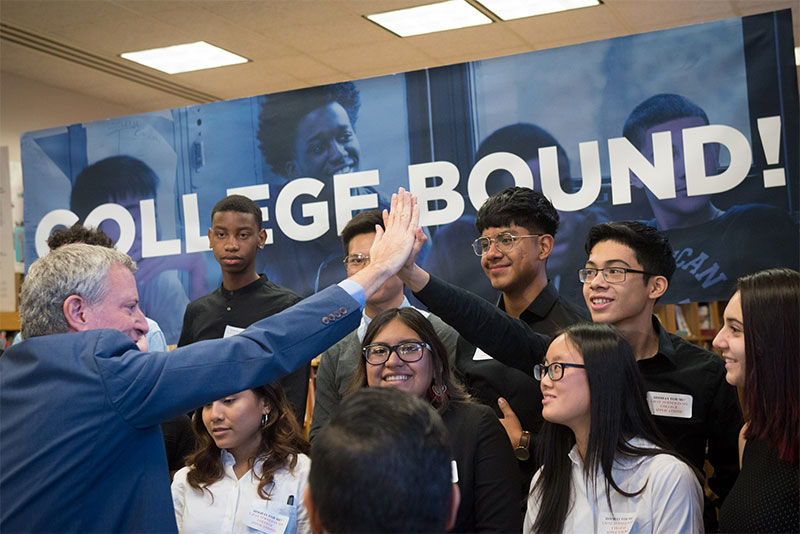 Mayor de Blasio Announces Record High 48,782 New York City Students Enrolling in College