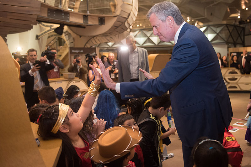 Mayor de Blasio Announces Start of Construction of New 306 Seat Steam Pre-K Center in Corona, Queens