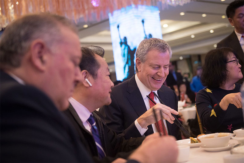 Mayor de Blasio Encourages New Yorkers to Visit Asian-American Owned Small Businesses