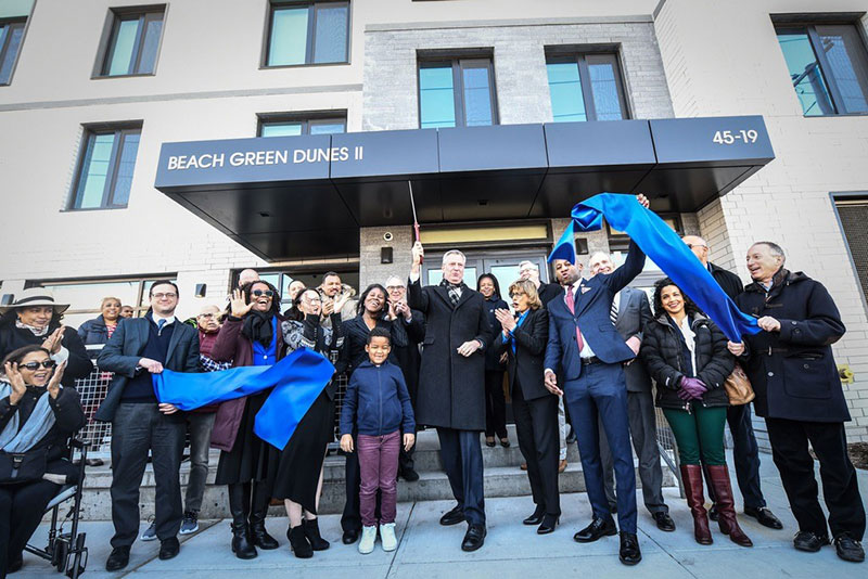 Mayor de Blasio Welcomes Home Tenants at New, Resilient Affordable Housing Development in Queens