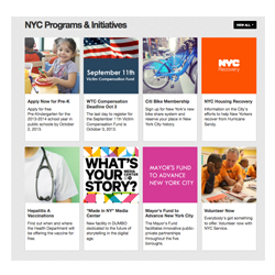nyc.gov new programs section