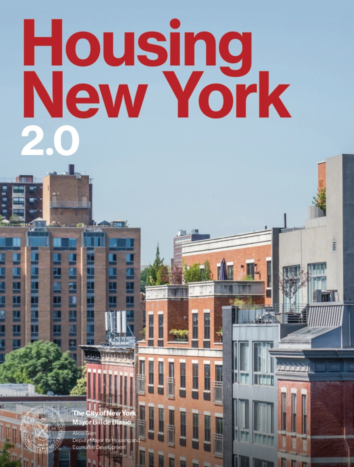 cover of the Housing New York 2.0 plan