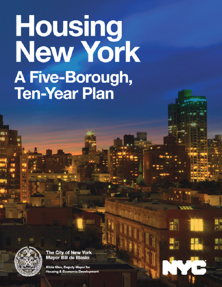 cover of the Housing New York plan