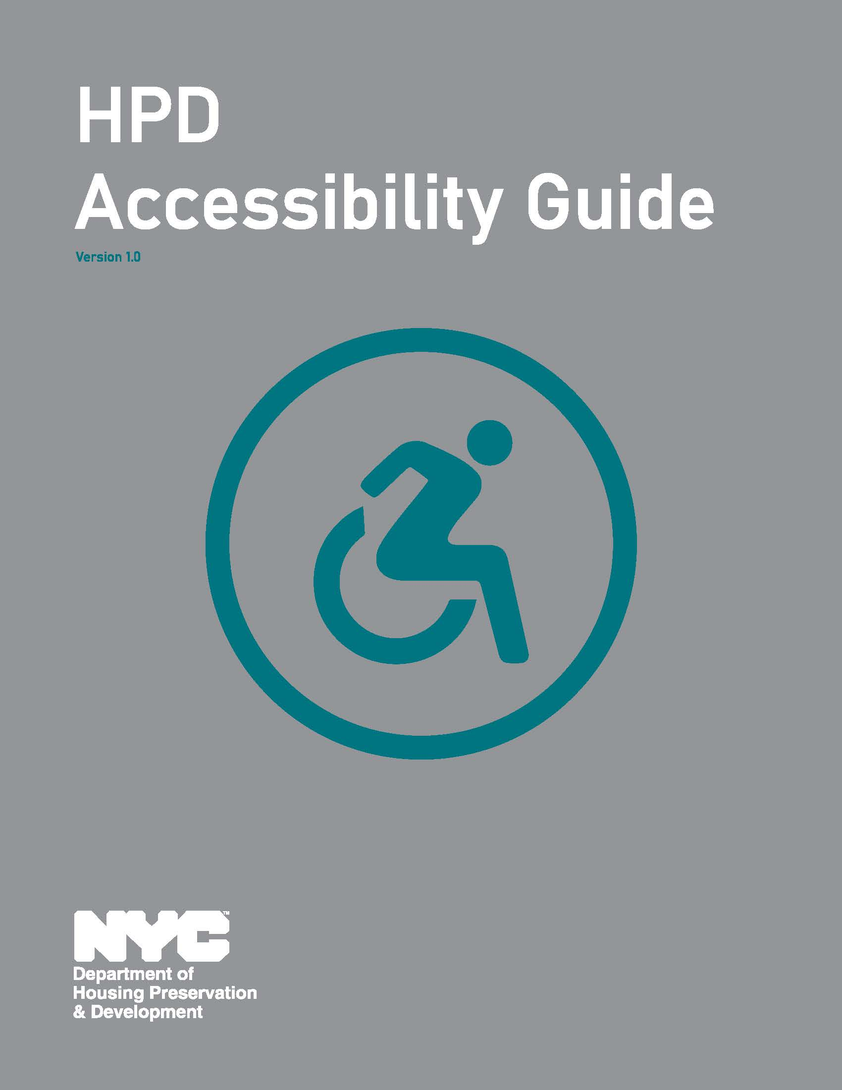 HPD Accessibility Guide cover page.