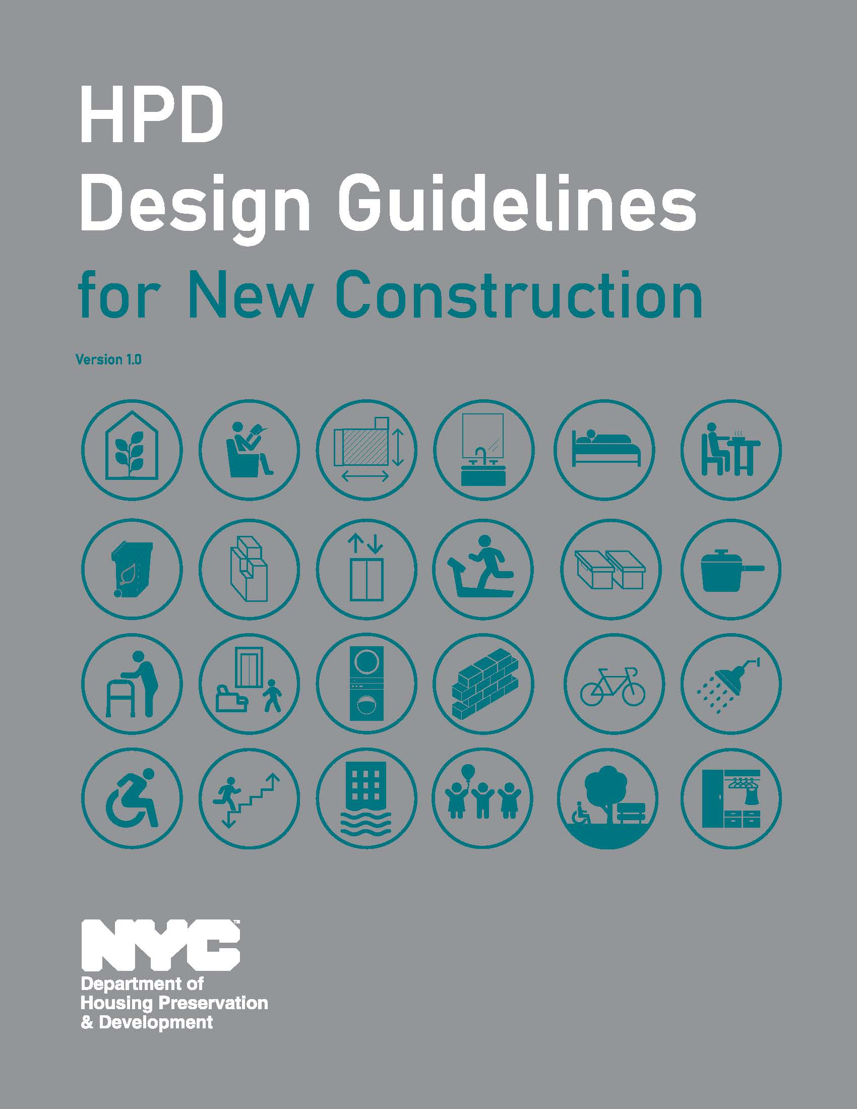 HPD Design Guidelines cover page.