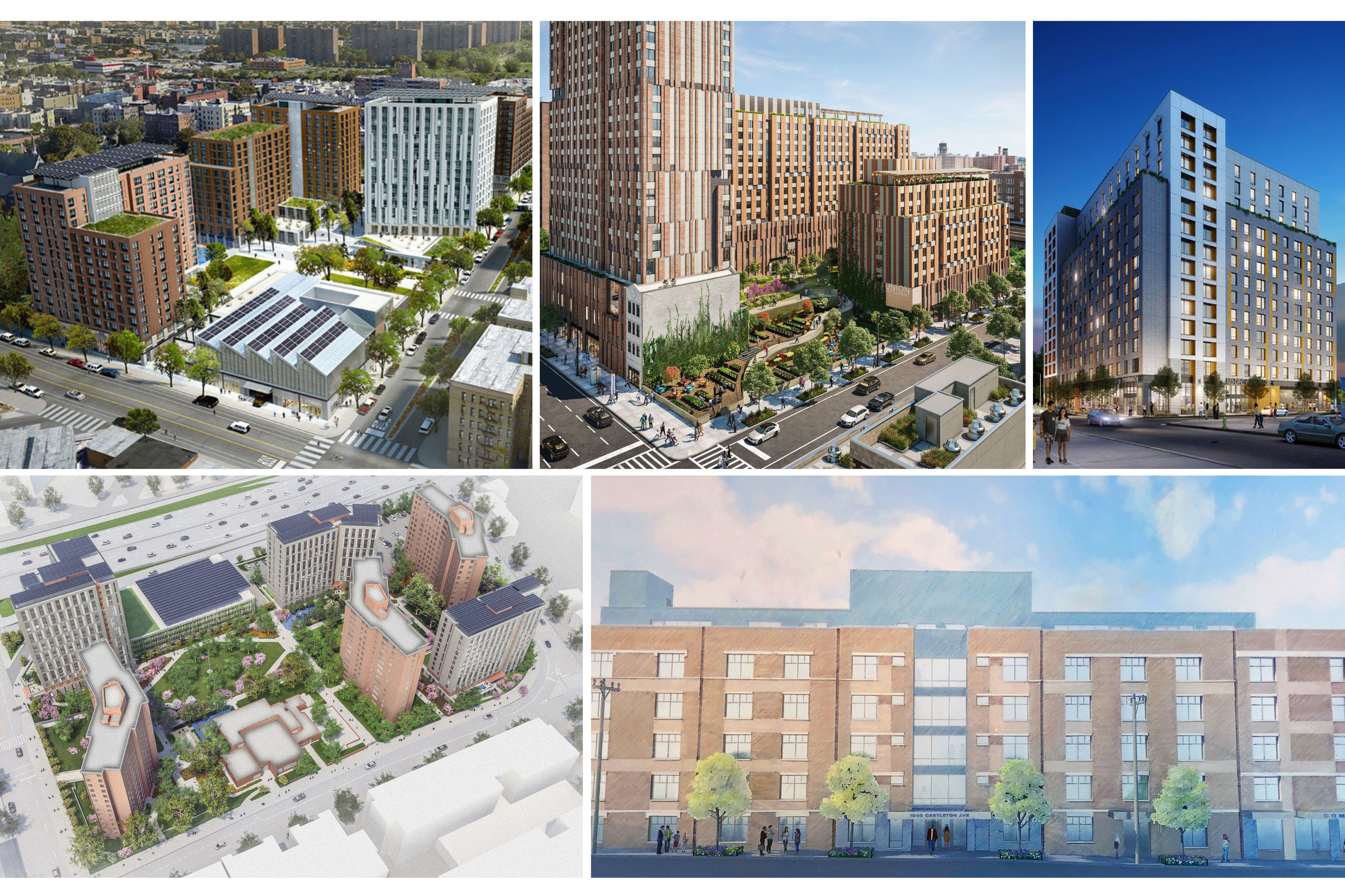 New affordable buildings in 2019: The Peninsula, Sendero Verde, Chestnut Commons, Apex Place, and Ca