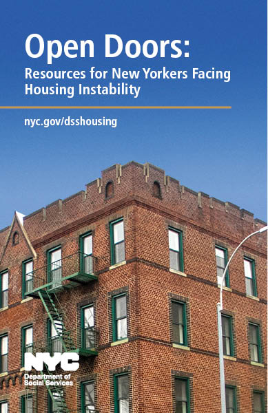 Cover for Open Doors: Resources for New Yorkers Facing Housing Instability