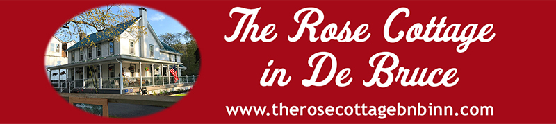 The Rose Cottage in De Bruce logo