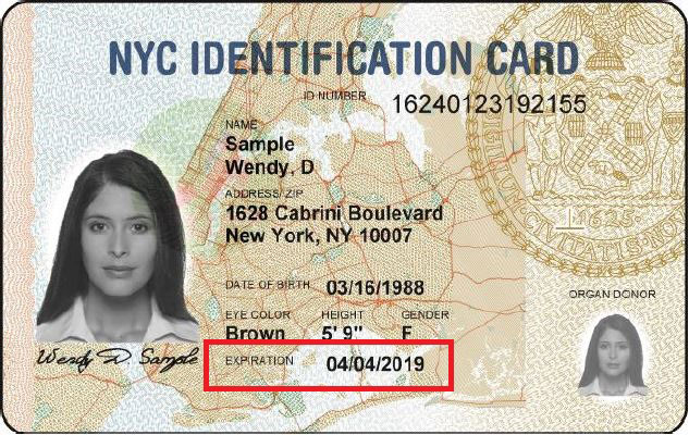 Image of an IDNYC Card