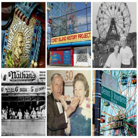 collage of Coney Island pictures