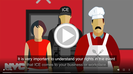Screen Capture of Workers' Rights in an Encounter with ICE Video