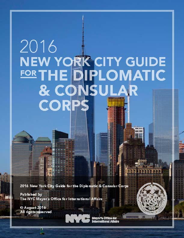 Cover of the 2016 NYC for the Diplomatic & Consular Corps