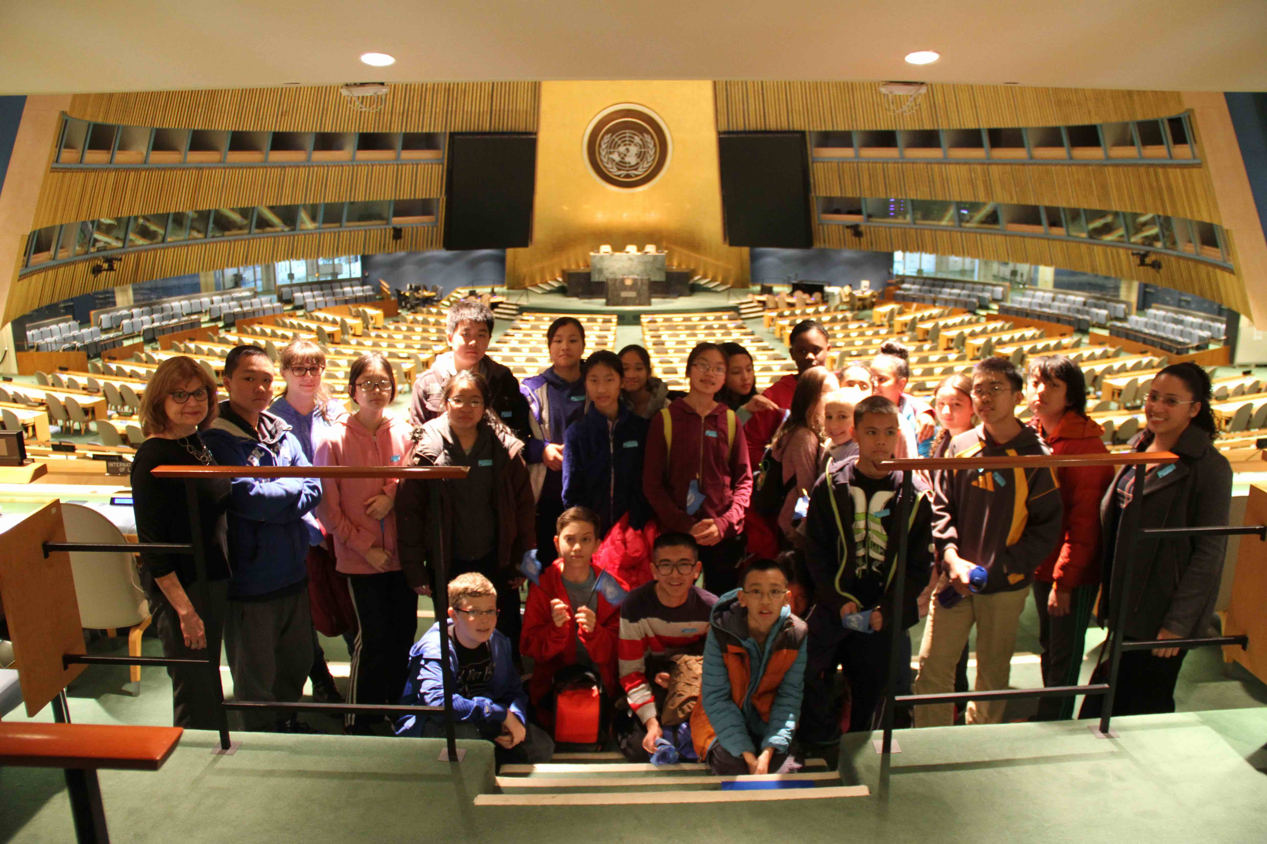 Students visiting the United Nations