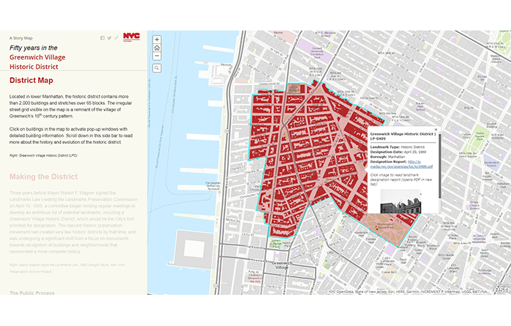 LPC RELEASES STORY MAP TO CELEBRATE THE 50TH ANNIVERSARY OF ITS DESIGNATION OF THE GREENWICH VILLAGE HISTORIC DISTRICT
