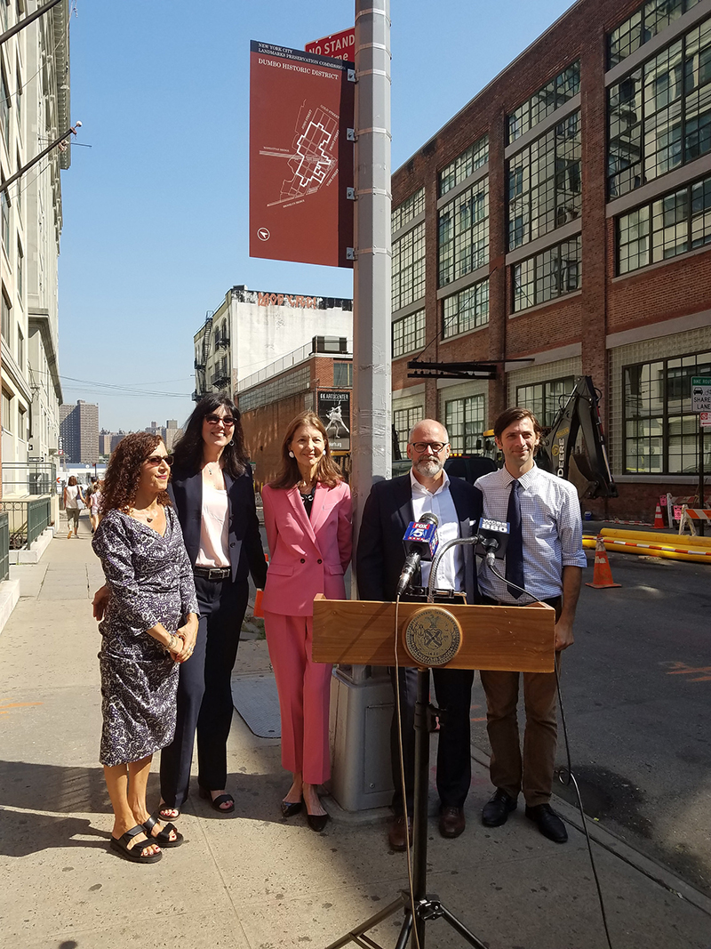 Historic District Marker Unveiled in DUMBO