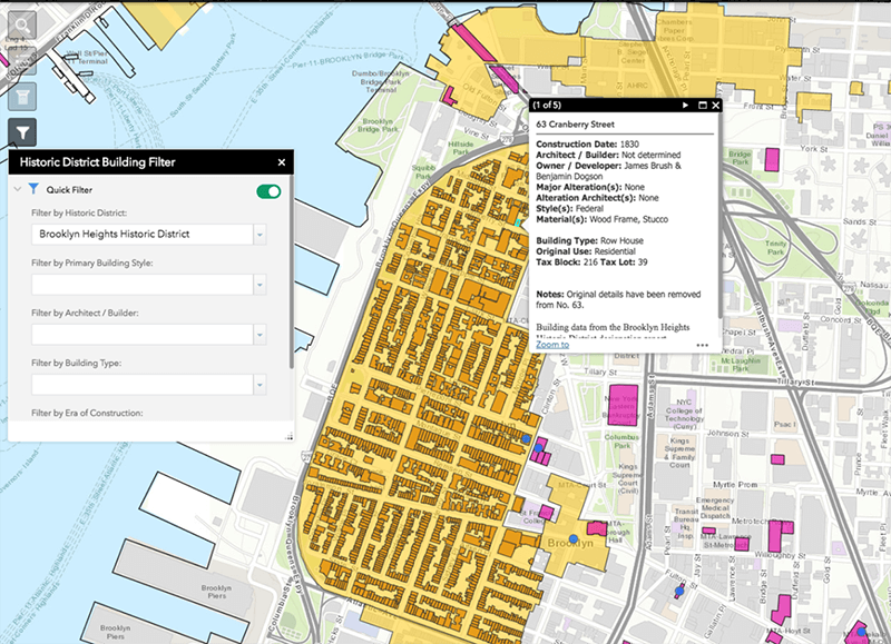 Map Of New York Landmarks.Lpc Makes Data On All Historic Buildings More Accessible With New