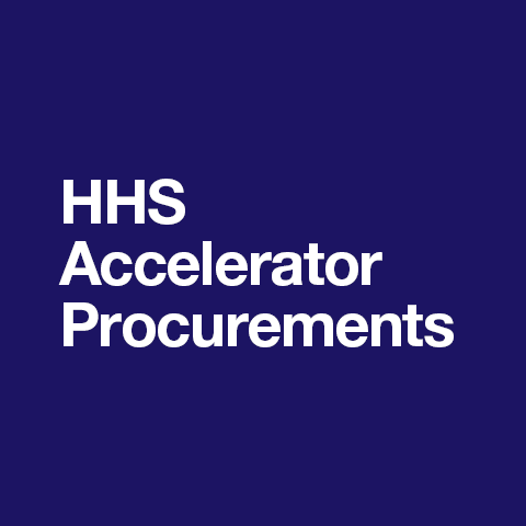 HHS Accelerator Procurements