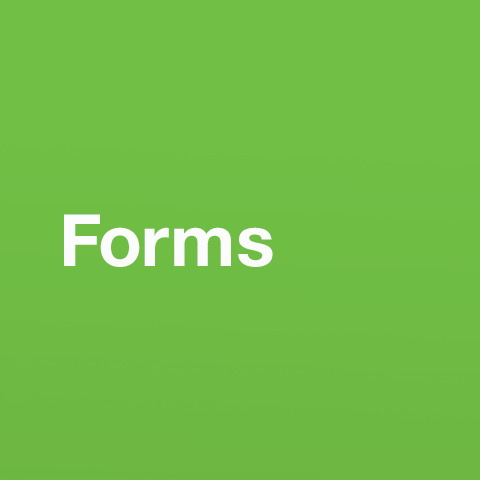 Text that reads: Forms