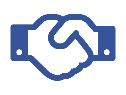 Compete for Opportunities and Track Contracts - icon of a handshake