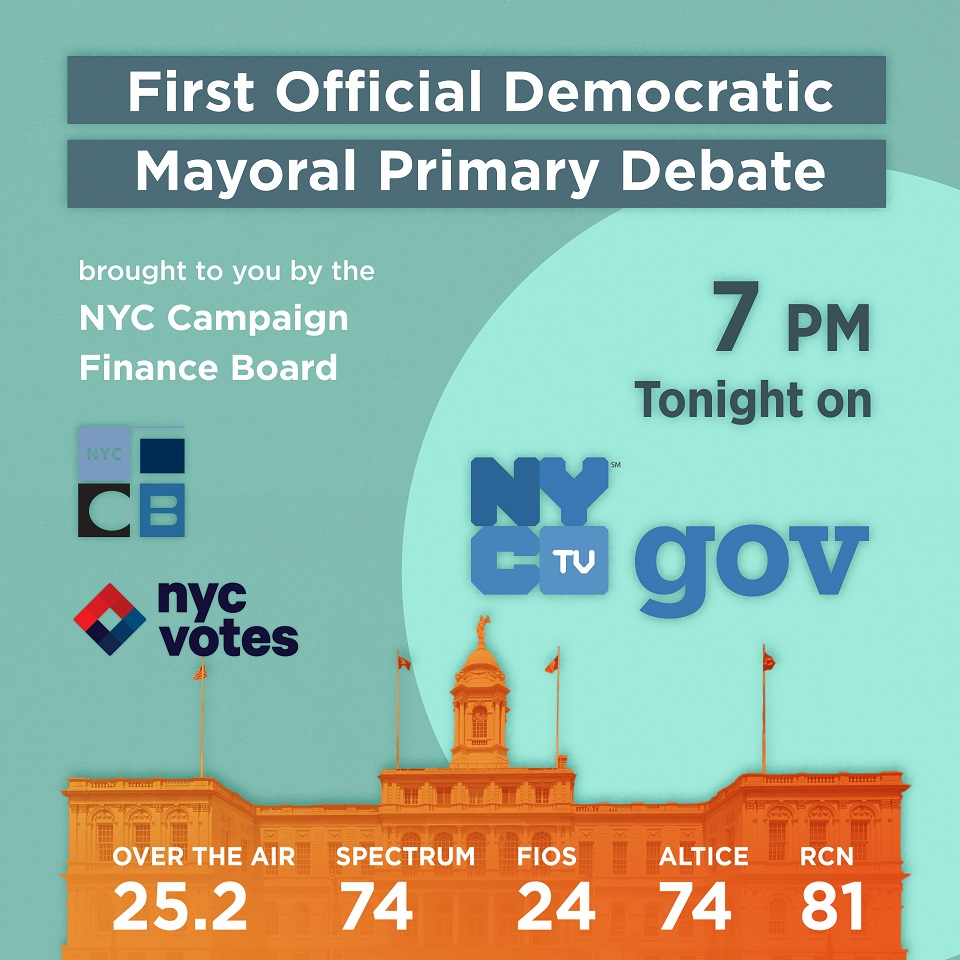 NYC MEDIA BROADCASTS CITYWIDE ELECTION DEBATE