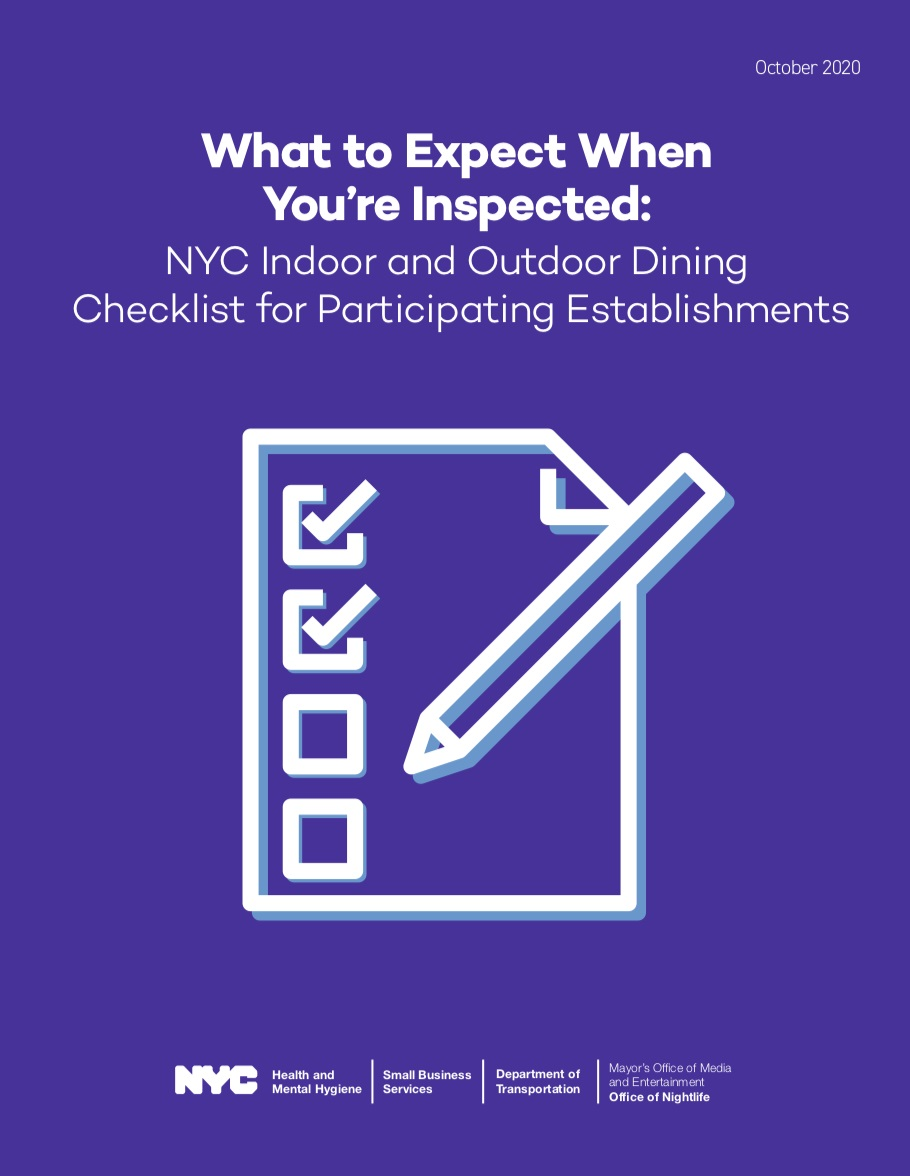 What to expect when you're inspected: Open Restaurants Program Checklist