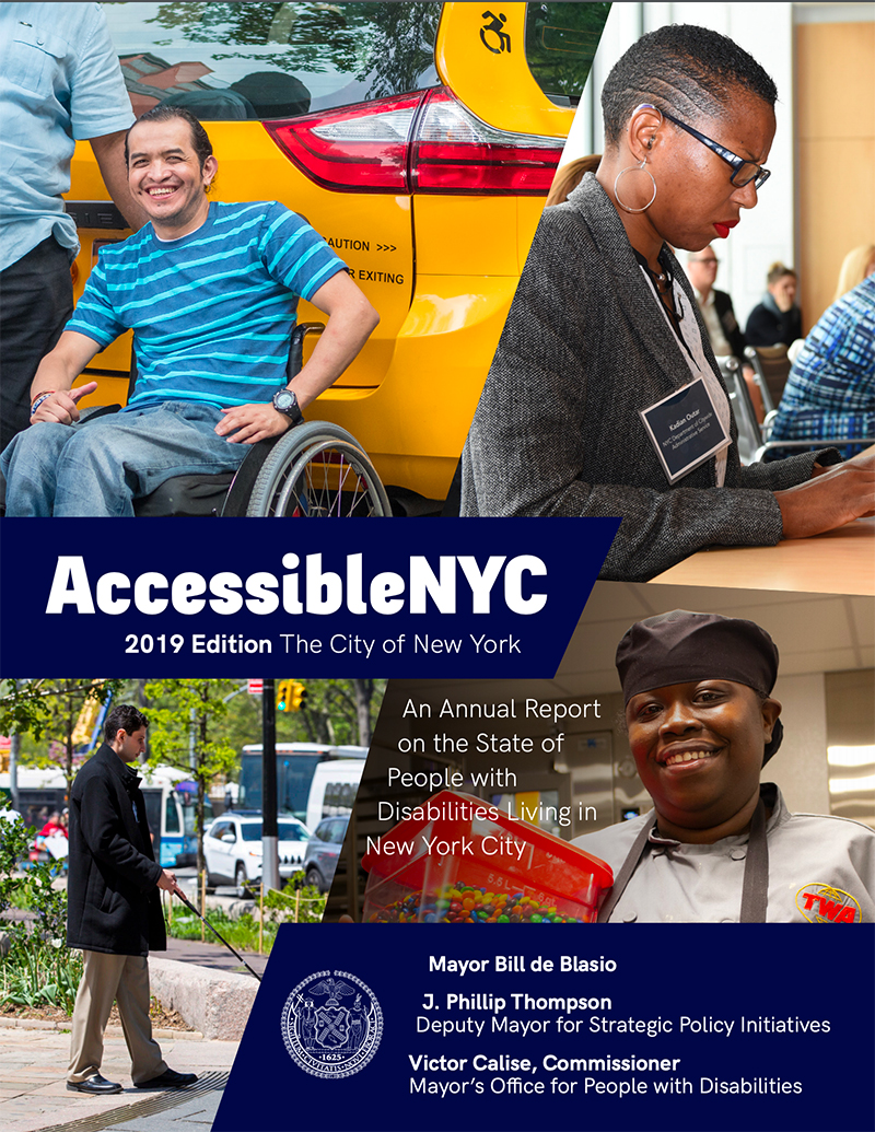 Cover of 2019 Edition of Accessible NYC