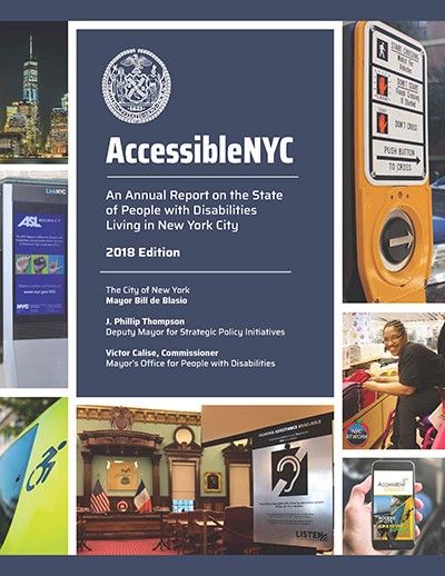 AccessibleNYC 2018 Annual Report Cover
