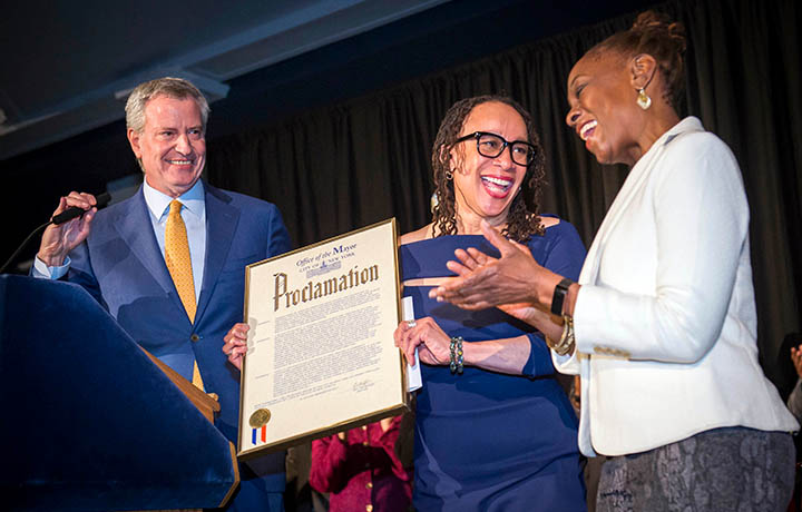 In celebration of Black History Month, Mayor Bill de Blasio and First Lady Chirlane McCray hosted a reception at the American Museum of Natural History.