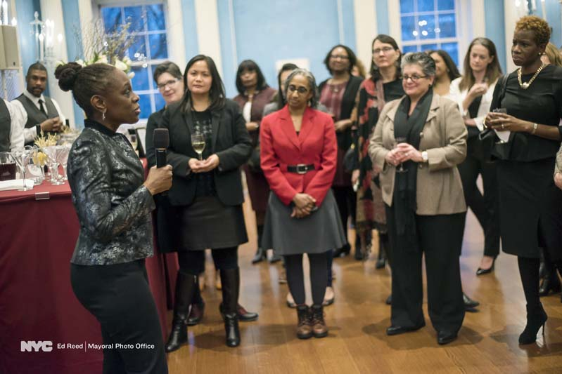 Lady Chirlane McCray speaking to women at a networking event