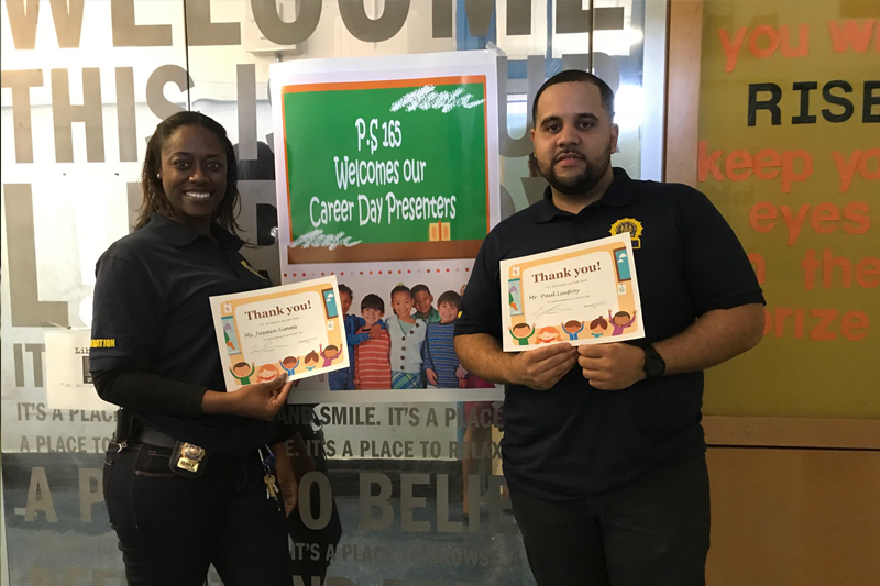 Brownsville NeON Probation Officers Paul Leufroy, and Jasmin Sims Featured Speakers During Career Day
