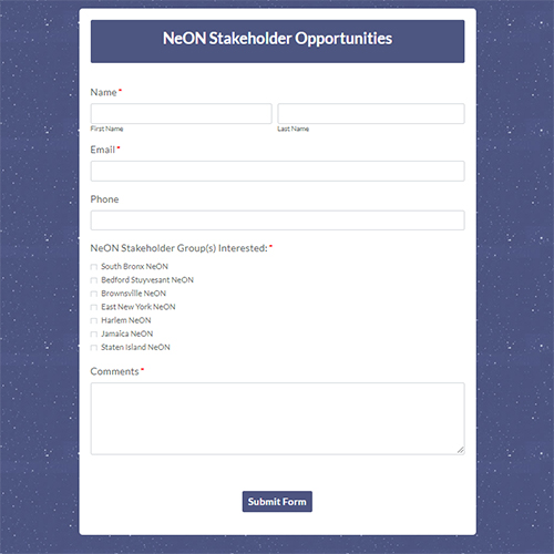 NeON Stakeholder Opportunities
