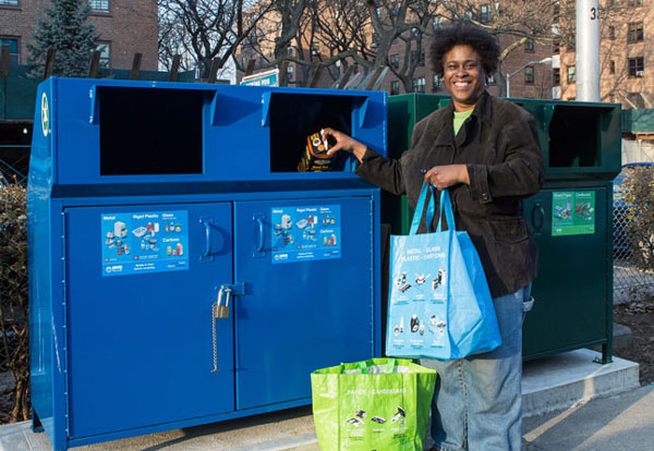 NYCHA installs 1,500 recycling bins in less than 2 years
