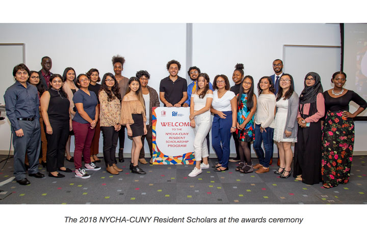 The 2018 NYCHA-CUNY Resident Scholars at the awards ceremony