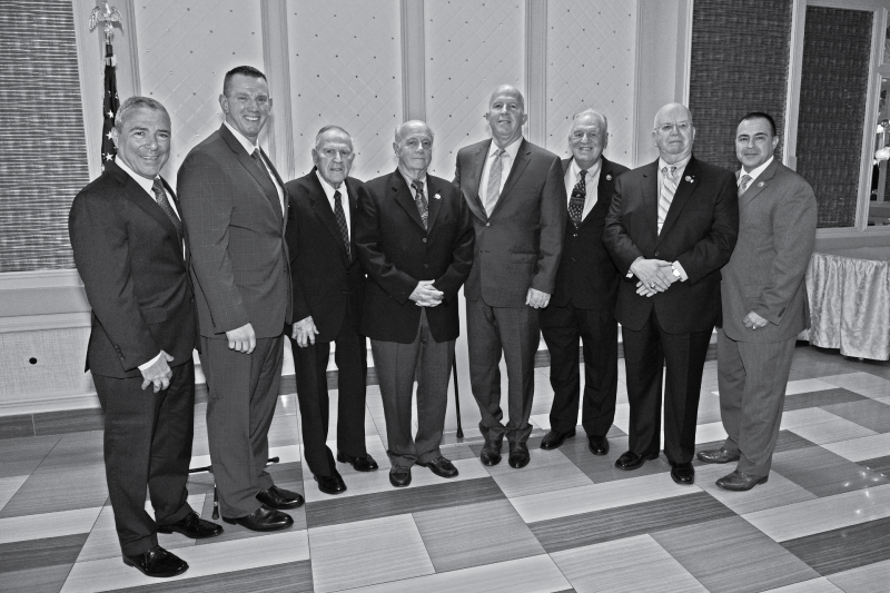 Group photo of the NYPD's Hostage Negotiation Team's leaders with the Police Commissioner.