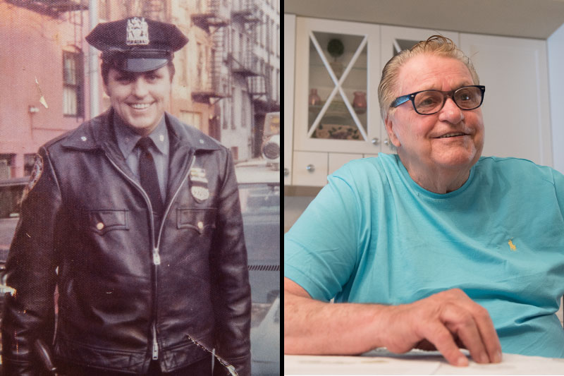 Patrolman Jim Liedy, then and now