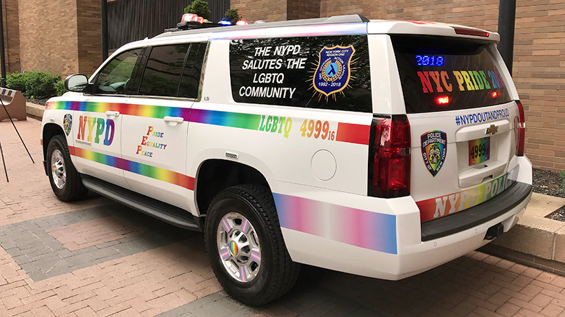 nypd helps facilitate  pride march route city   york