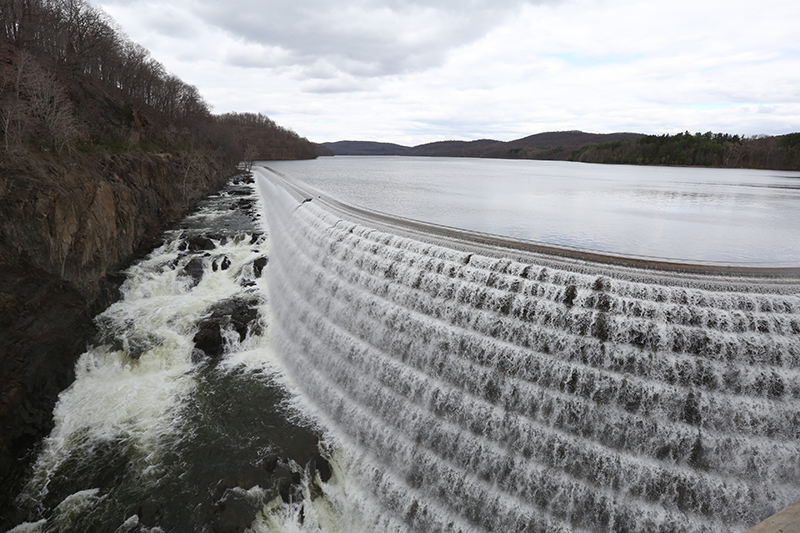 Aerial View of Croton Dam Spillway