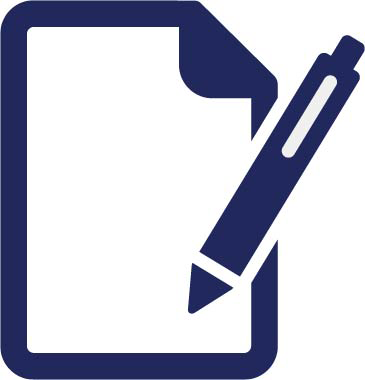 Pen and paper logo