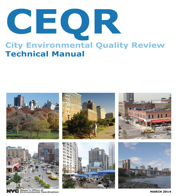 2014 CEQR Technical Manual Cover