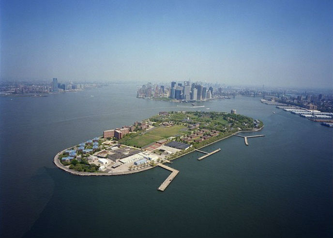 Overhead view of Governors Island